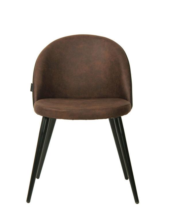 Chaise vintage Giza - Cuisine, Salle à manger - métal et microfibre (Marron Antique)