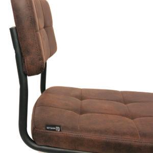 Chaise vintage matelassée SAFI - Lot de 2 chaises industrielles (marron vintage)