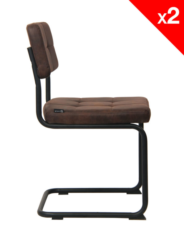 Chaise Vintage rétro Safi - Style industriel (marron)