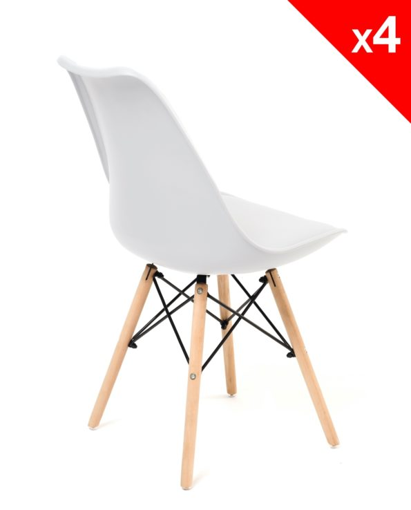 Chaises DSW coussin - Scandinave blanc