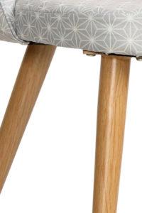 GIZA - Chaise scandinave vintage - piètement métal faux bois