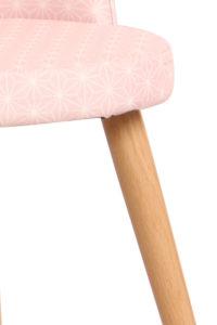 GIZA - Chaise scandinave vintage en tissu et piètement métal faux bois