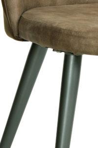 GIZA - chaise cocktail vintage Kayelles - piètement métal gris