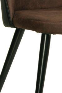 GIZA - chaise cocktail vintage Kayelles - piètement métal noir