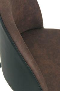 chaise vintage marron GIZA - Kayelles