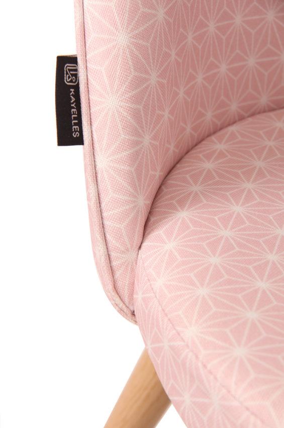 Chaise Scandinave Vintage Tissu Etoiles