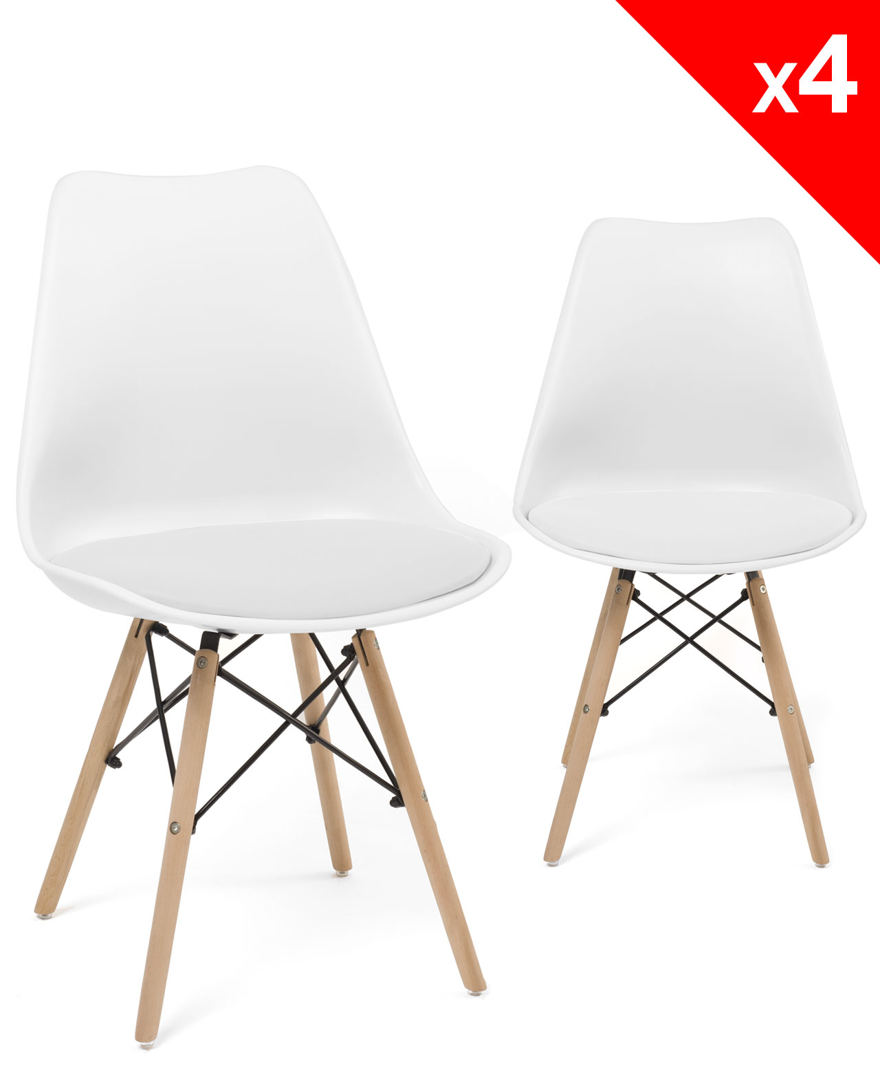 Chaise de bureau eames chaise de bureau eames the vitra for Chaise dsw blanche