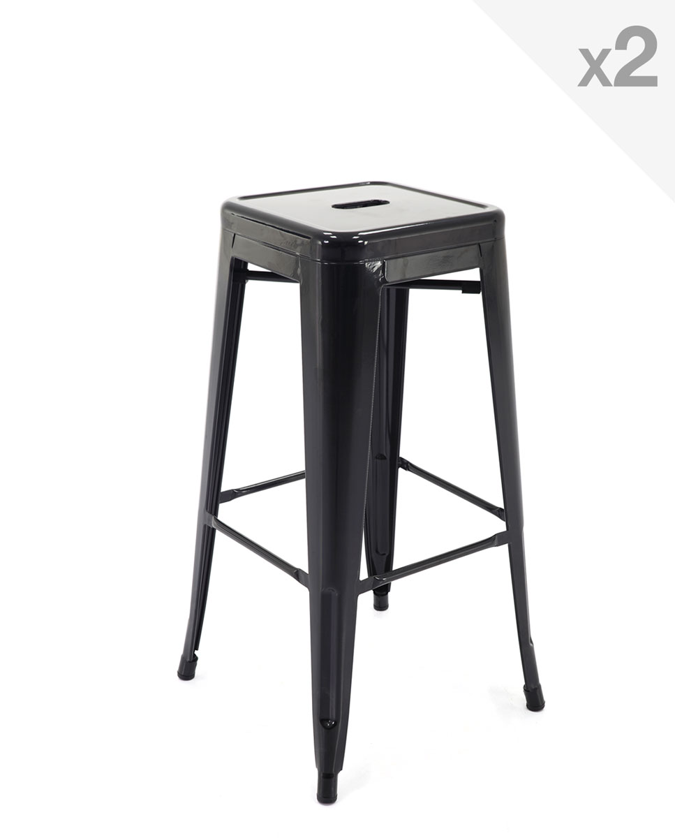 tabouret de bar tolix interesting tolix tabouret sans dossier h cm finition intrieur peint. Black Bedroom Furniture Sets. Home Design Ideas