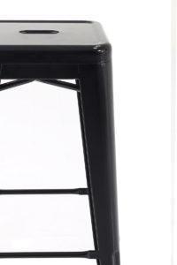 Tabourets de Bar Industriels Tolix CLYDE 77 cm Noir