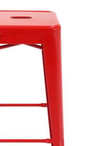 Tabourets de Bar Industriels Tolix CLYDE 77 cm Rouge