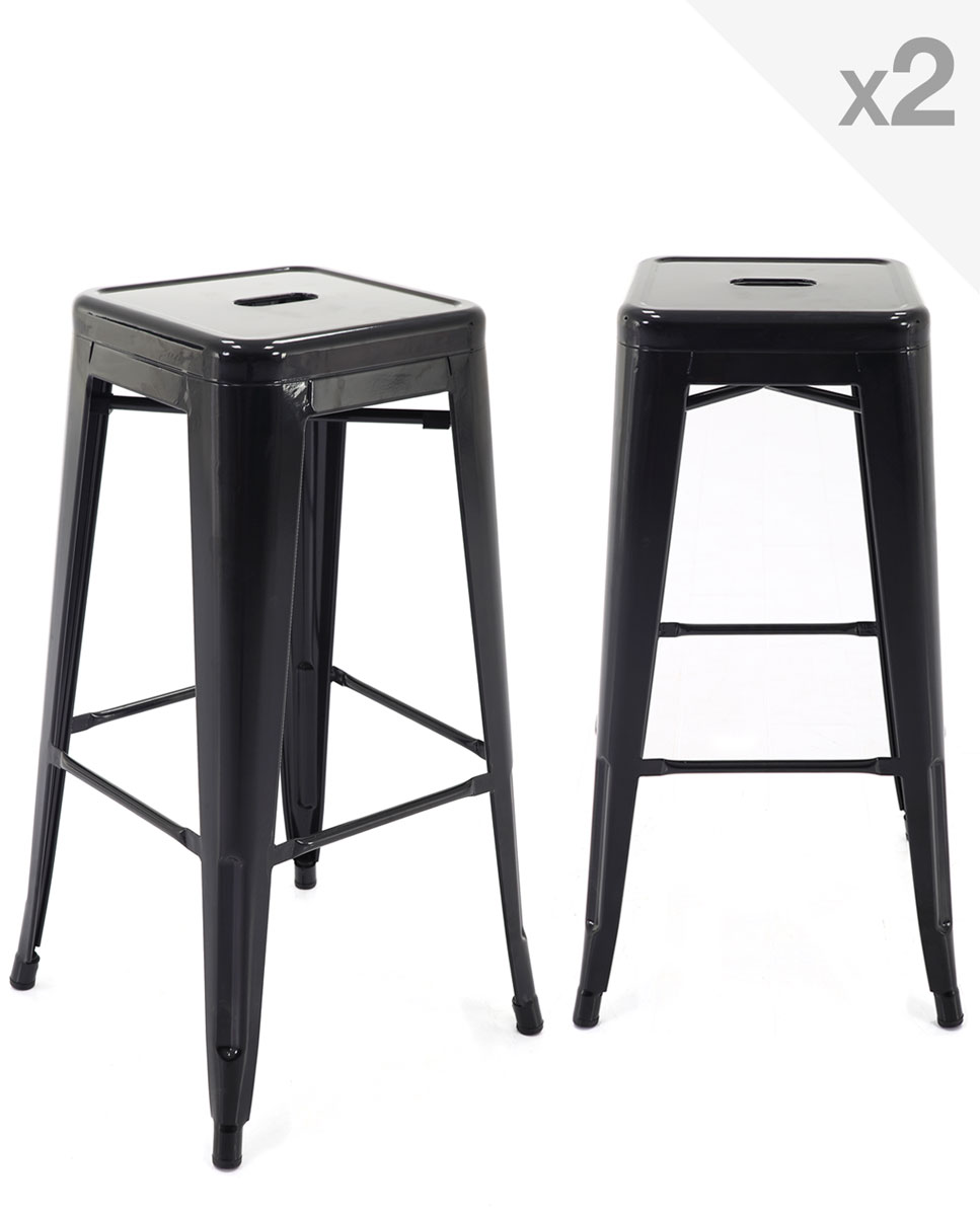tabouret tolix noir sx16 montrealeast. Black Bedroom Furniture Sets. Home Design Ideas