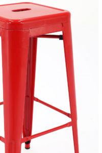 Tabourets Industriels Tolix CLYDE 77 cm Rouge