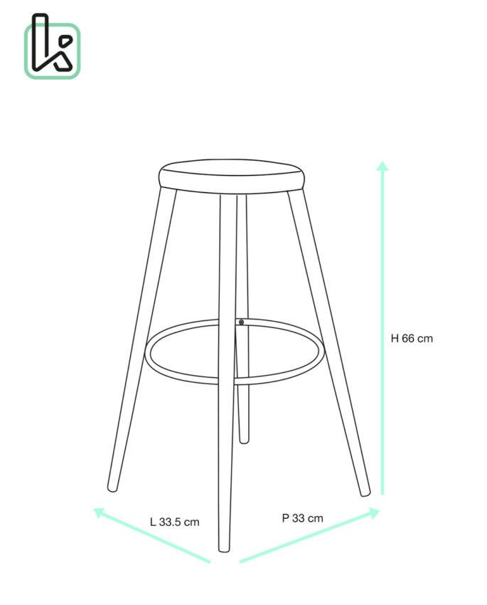 dimension standard chaise de bar