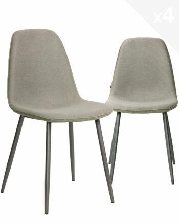 chaises-salle-a-manger-design-moderne-lot-de-4-tissu-gaufre-gris