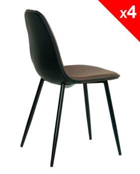 kayelles-chaises-salle-a-manger-design-moderne-lot-de-4-marron-vintage