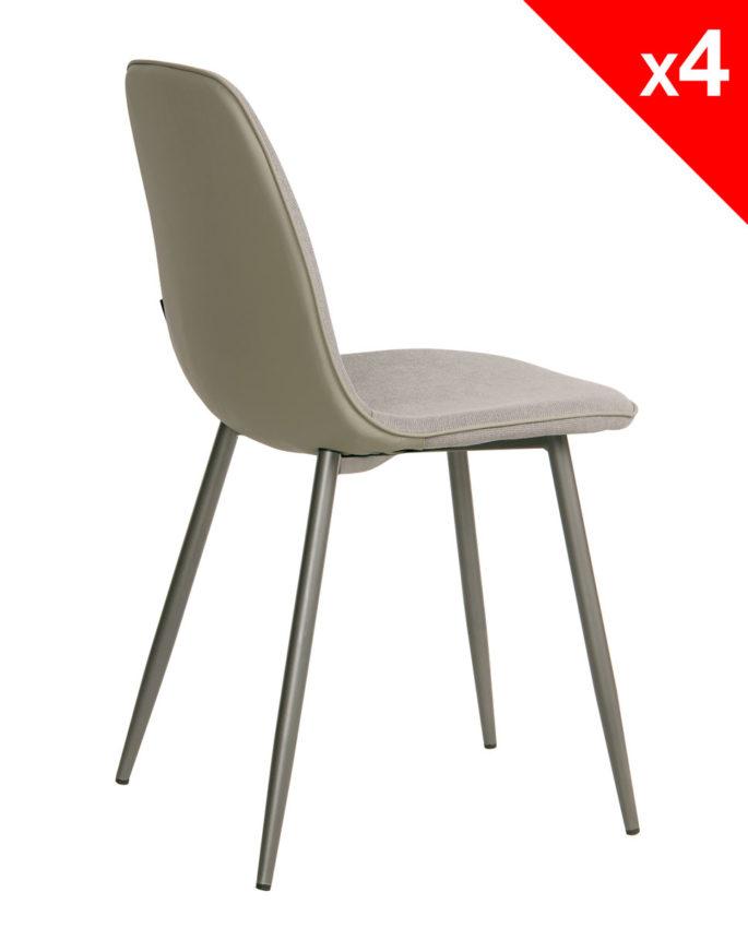 Chaises design tissu et métal Lot de 4 184 9€