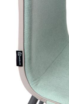 roxy-chaise-design-tissu-bleu-gaufré
