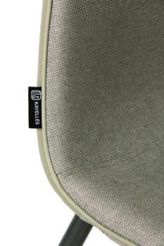 roxy-chaise-design-tissu-grisu-gaufré