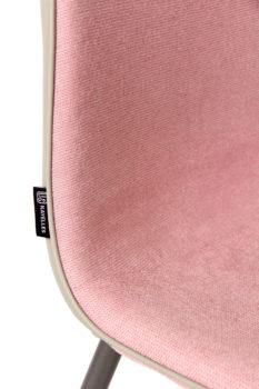 roxy-chaise-design-tissu-rose-gaufré