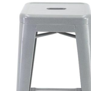 Tabouret de bar Tolix industriel Gris métal