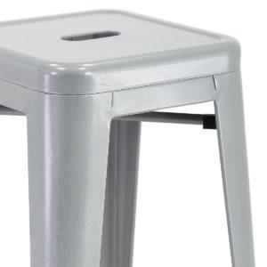 Tabouret de bar industriel Gris métal