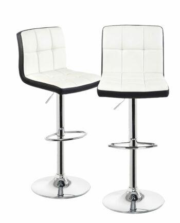 Tabourets de bar - Chaise de bar confort reglable - SIVAN - noir