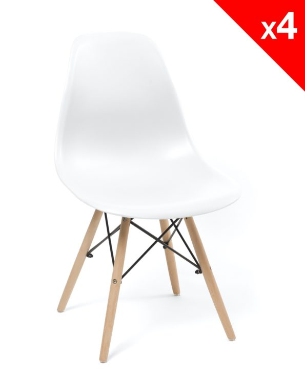 chaise scandinave - neo dsw - blanc - pas cher