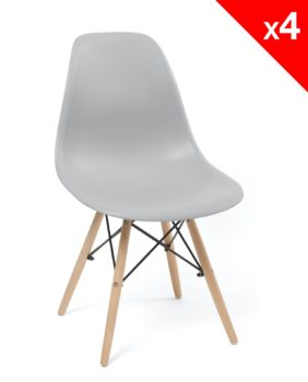 chaise scandinave - neo dsw - gris clair