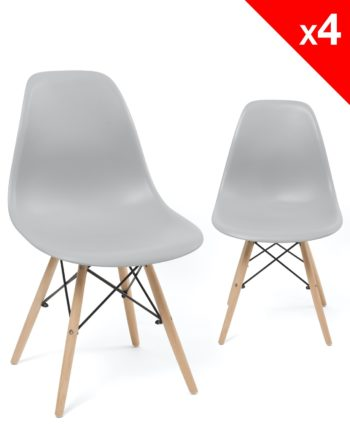 neo chaises dsw - design - kayelles gris clair