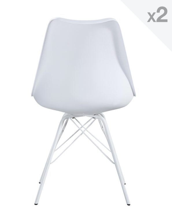 STEP chaise design avec un coussin STEP blanc