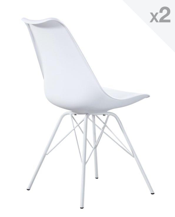 Kayelles chaise design Eiffel rembourrée Blanc
