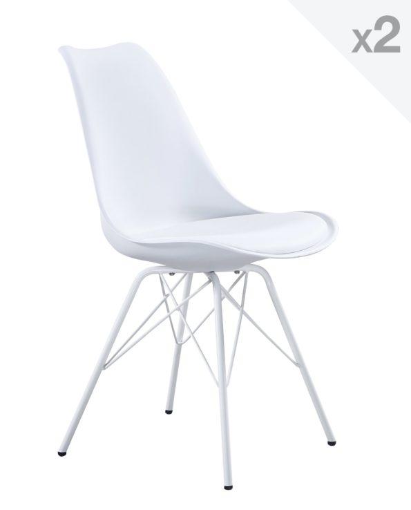 Kayelles chaise design létal rembourrée