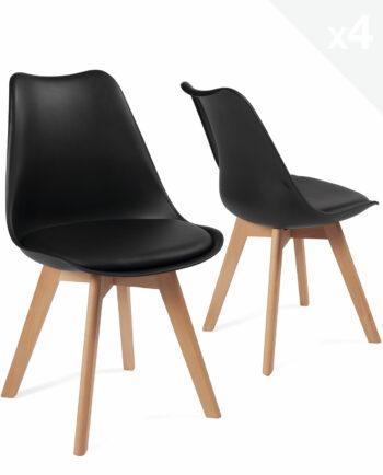 lot-4-chaises-scandinave-coussin-pas-cher-lao-noir