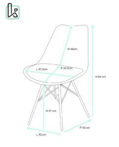 STEP chaise design métal avec coussin