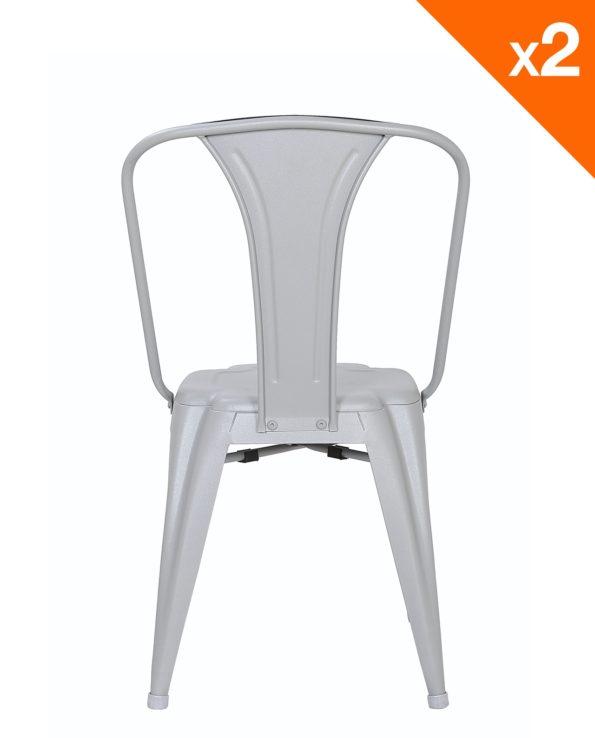 Chaise metal industriel - gris clair - Kayelles