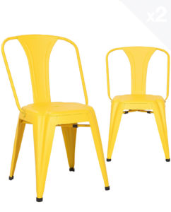 chaise-metal-industriel-lot-2-chaises-bistrot-jaune-kayelles