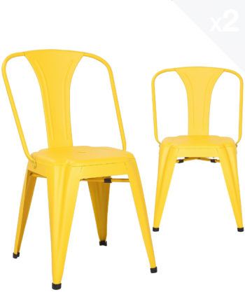 chaise-metal-industriel-lot-2-chaises-bistrot-jaune-kayelles