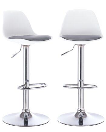 Tabouret bar confort coussin cuisine - SIG - blanc et gris
