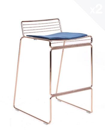 chaise-de-bar-design-filaire-metal-coussin-velours-kayelles