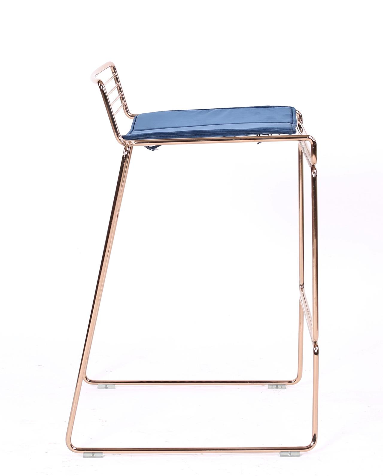 Chaise De Bar Design: ROSSO Chaises De Bar Design Fil Métal Avec Coussin Velours