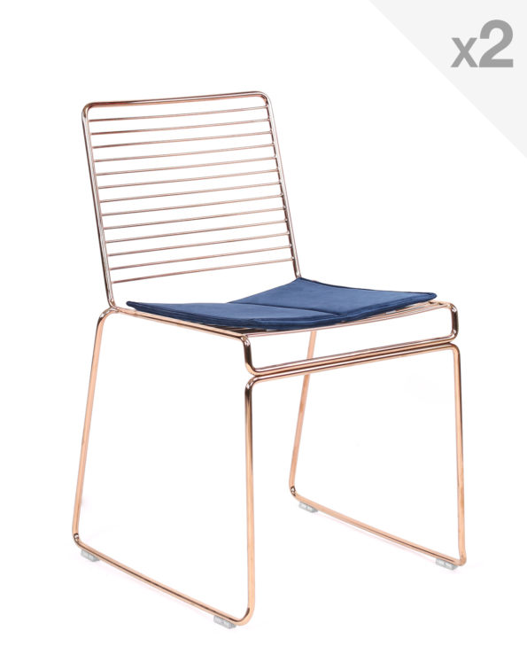 chaise-design-filaire-metal-coussin-velours-kayelles