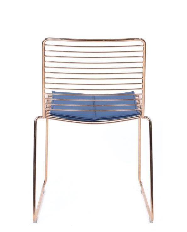 lot de 2 chaises design moderne - Fil métal et coussin en velours - Kayelles