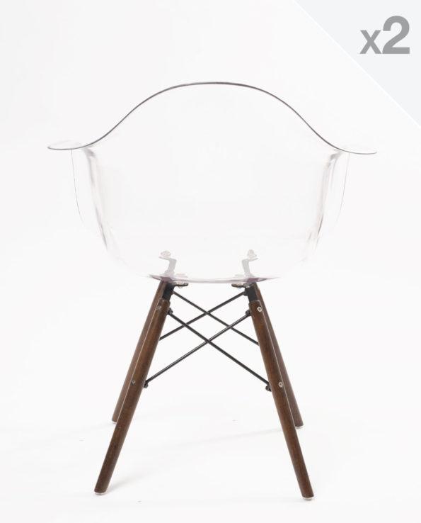 chaise scandinave design daw transparente