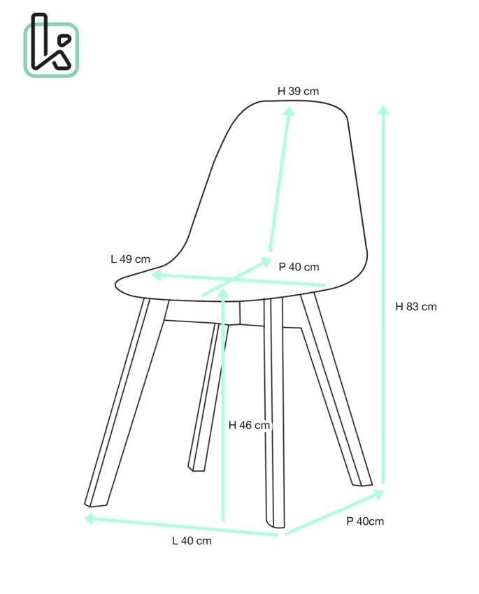lao lot de 2 chaises scandinaves patchwork tulipe. Black Bedroom Furniture Sets. Home Design Ideas