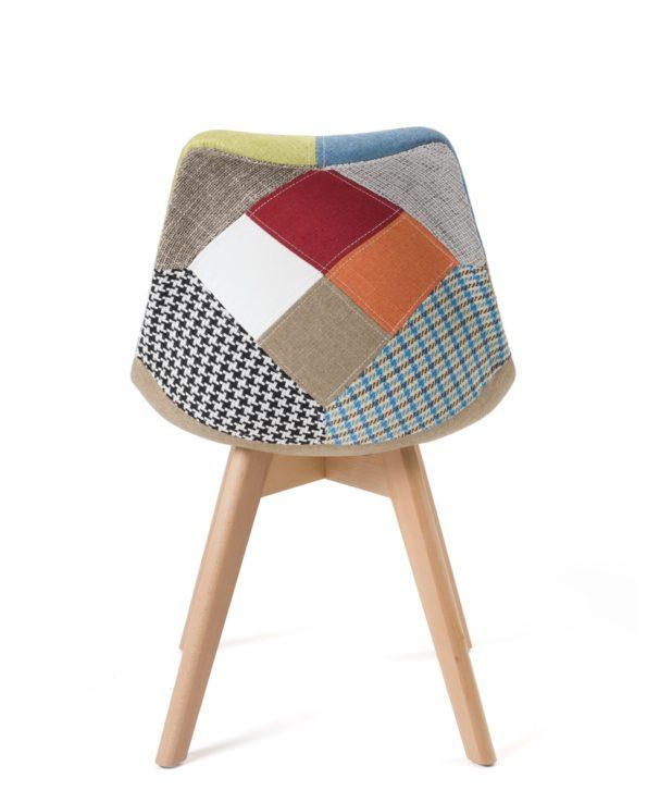 chaises patchwork scandinaves - Kayelles - pas cher - salle à manger, cuisine