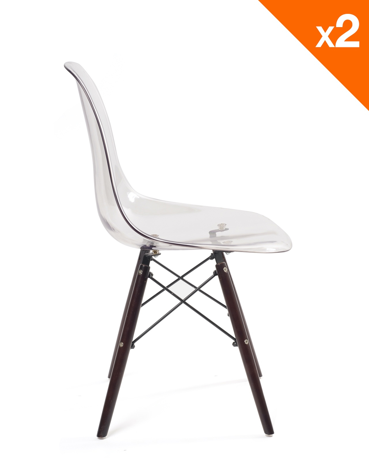 Chaise Moderne Transparente: NEO Chaise Scandinave Transparente - Lot De 2