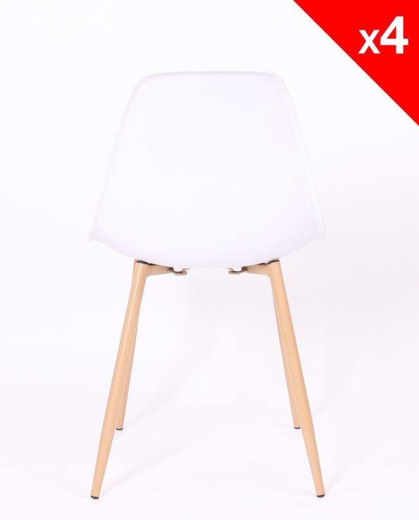 lot de 4 chaises cuisine NOVA - Scandinave - salle à manger - Blanc