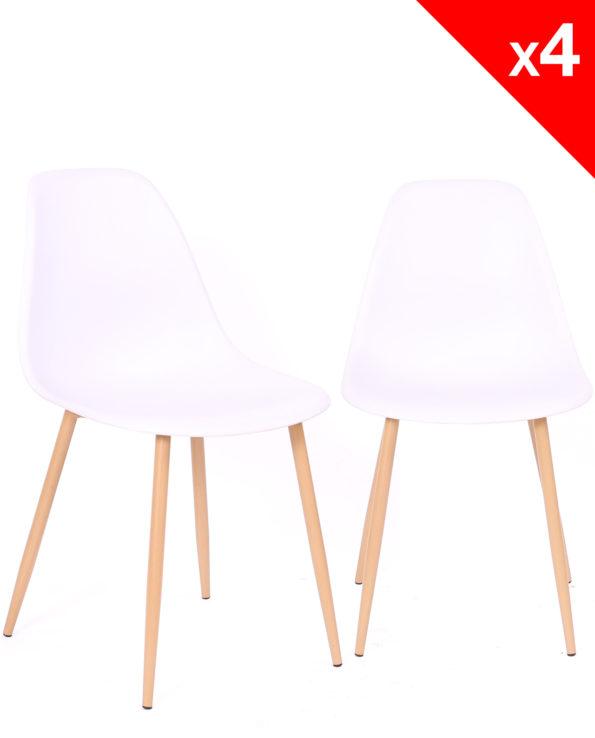 Lot de 4 chaises Scandinaves - NOVA - Cuisine, salle à manger