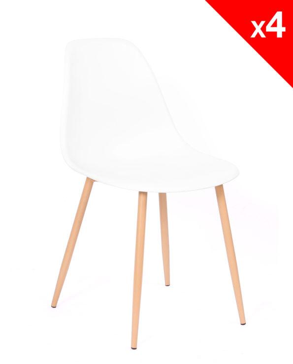 lot-4-chaises-scandinaves-Nova-cuisine-salle-manger-blanc