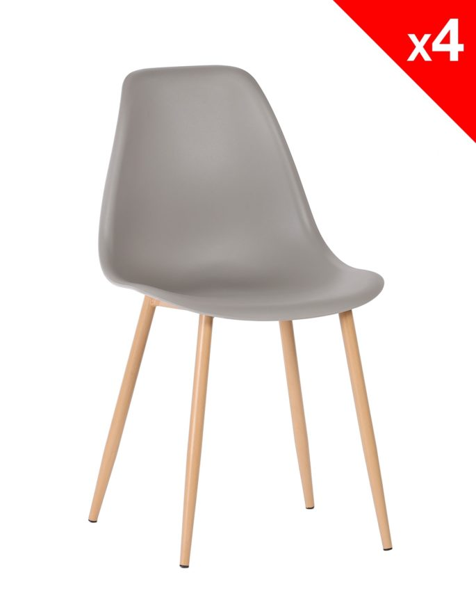 Nova Lot De 4 Chaises Scandinaves